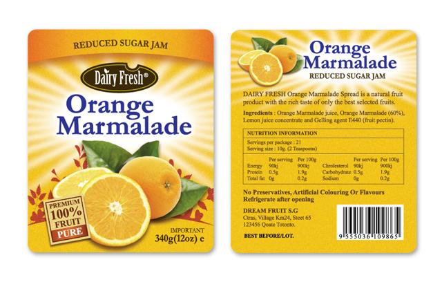 Orange Jam Label Template