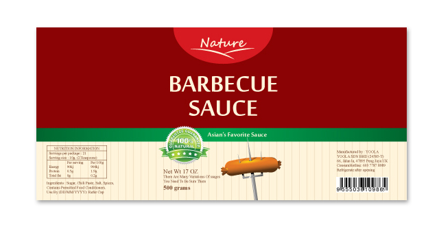 Barbecue sauce label template for Bbq sauce label template