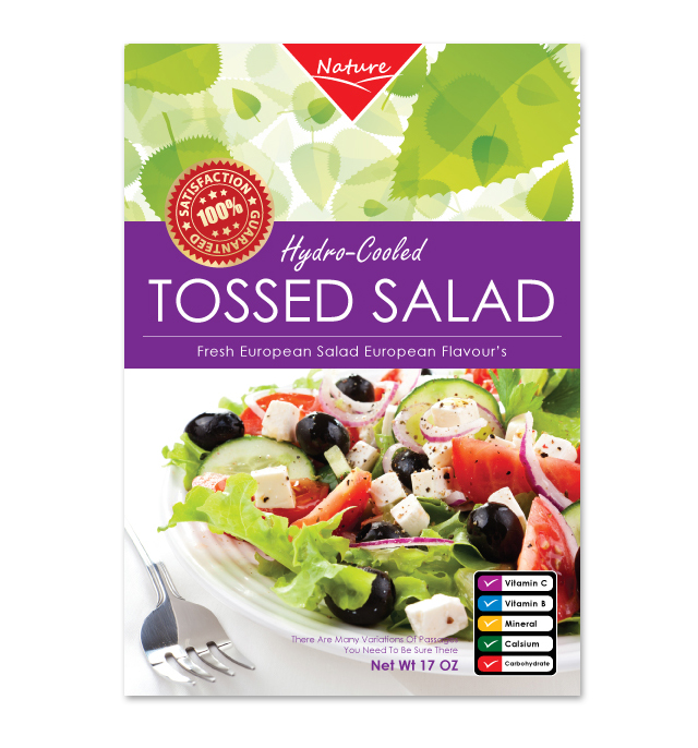 Fresh Salad Label Template