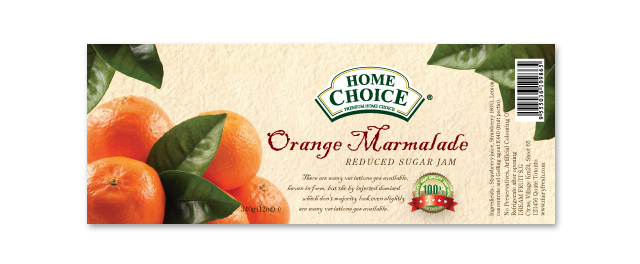 orange marmalade jam label template