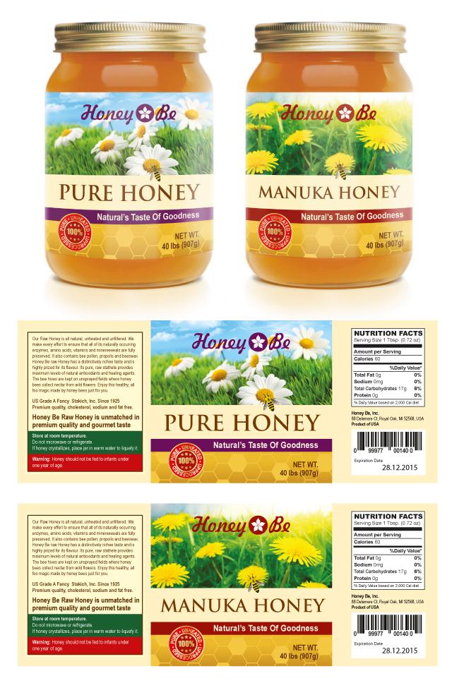 Pure Honey Manuka Honey Labels Template