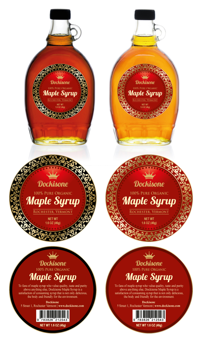 maple syrup labels template