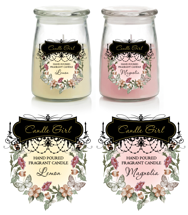candle labels template