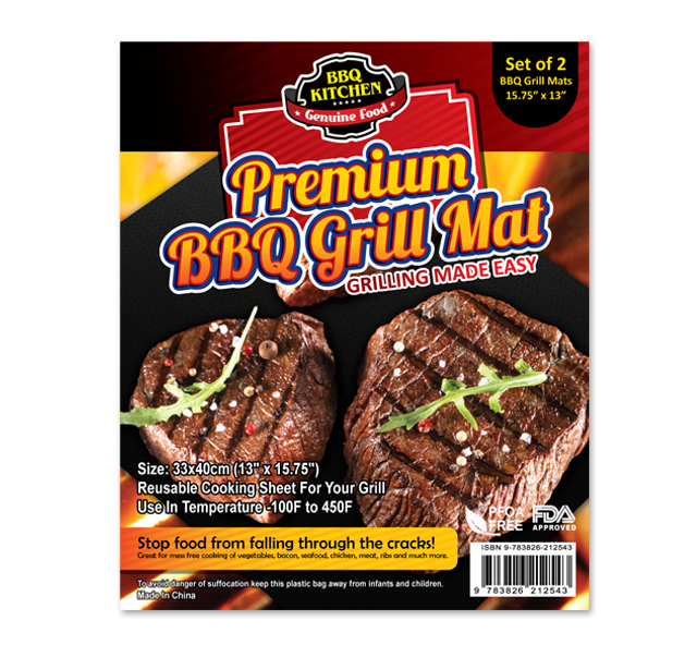 BBQ Grill Mat Label Template