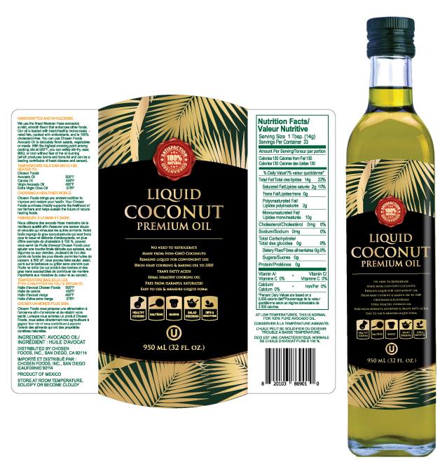 Liquid Coconut Oil Label Template