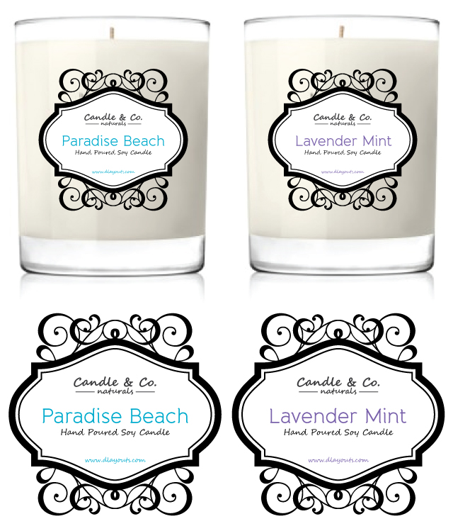 Lively image regarding free printable candle labels