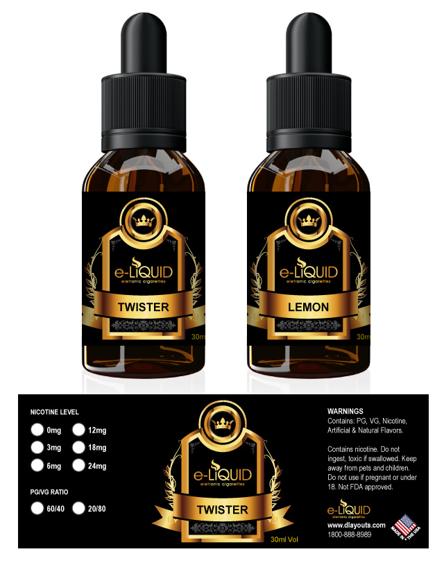 E-Liquid Label Template