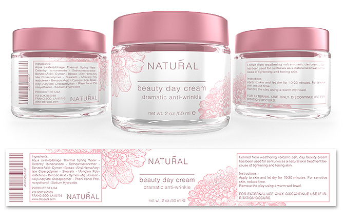 Beauty Facial Cream Label Template