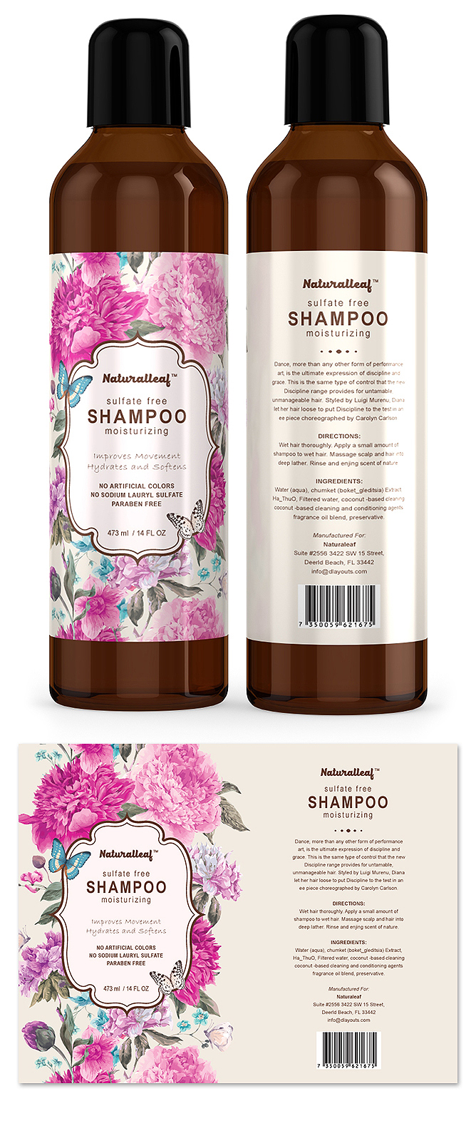Hair Shampoo Label Template – Product Label Template