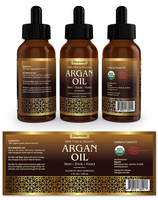 Argan Oil Label Template