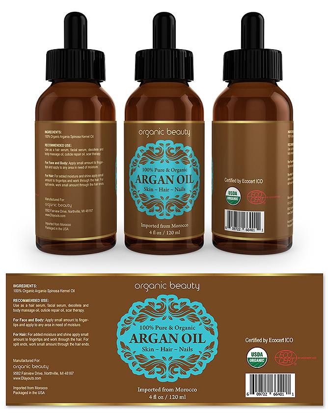 Argan Oil Label Template