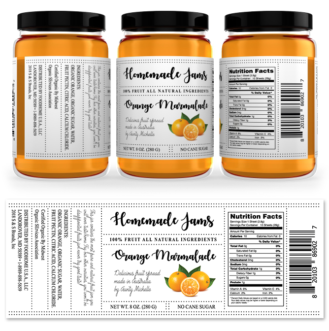 Orange Marmalade Jam Label Template