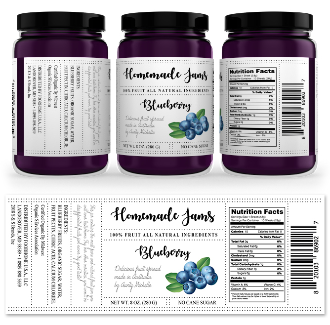 Blueberry Jam Label Template