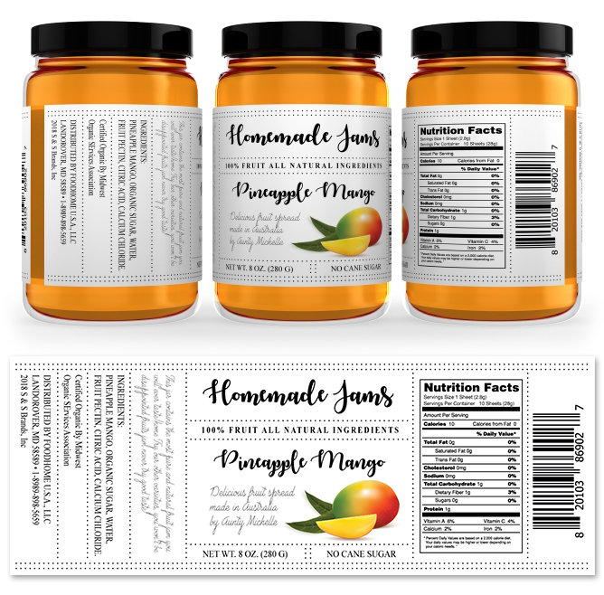 Mango Jam Label Template