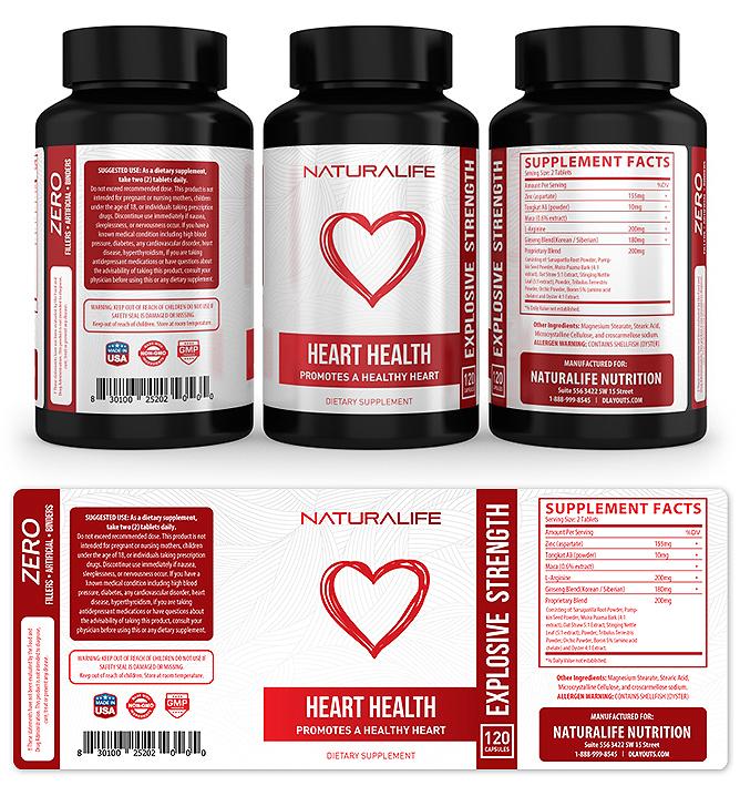 Heart Health Supplement Label Template