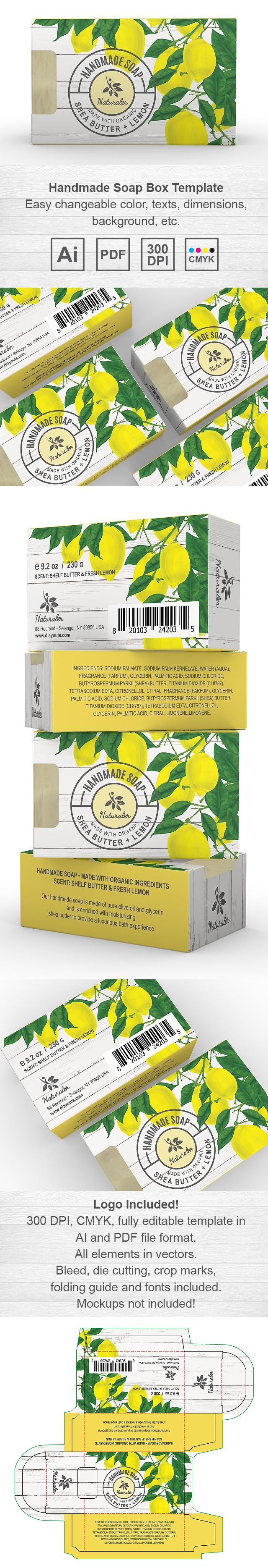 Handmade Lemon Soap Packaging Template