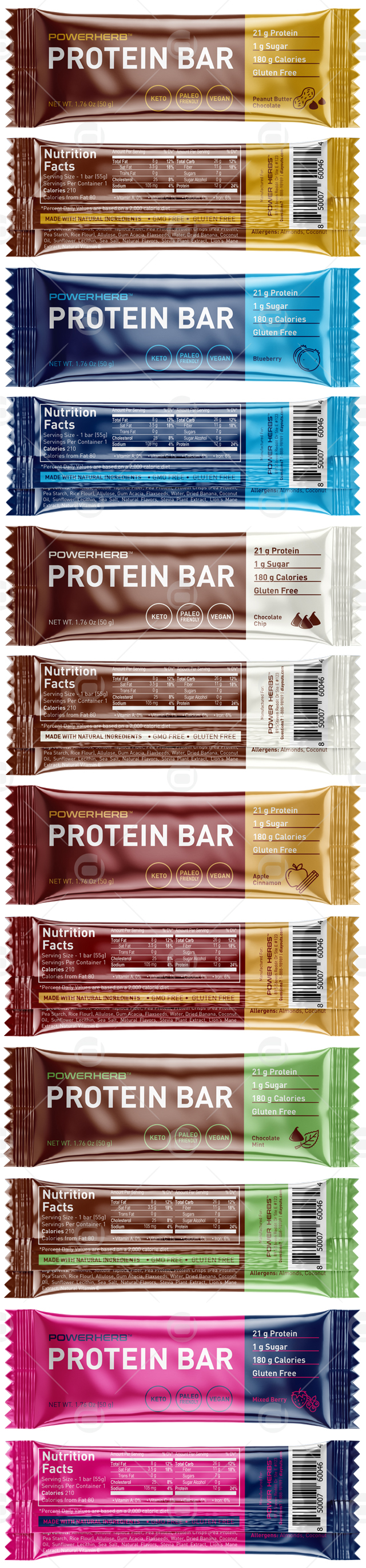 Protein Snack Bar Packaging Template