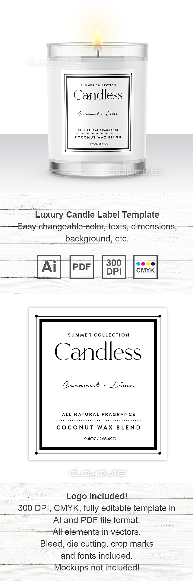 Luxury Candle Label Template