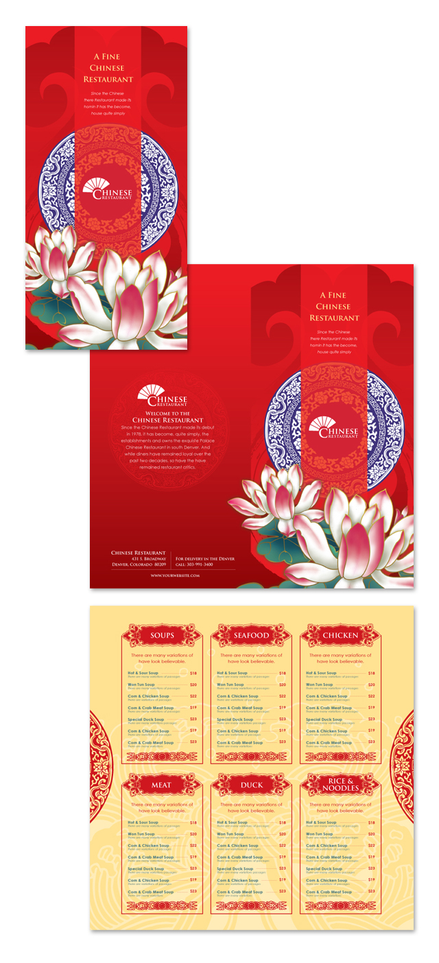 Chinese Restaurant Menu Template