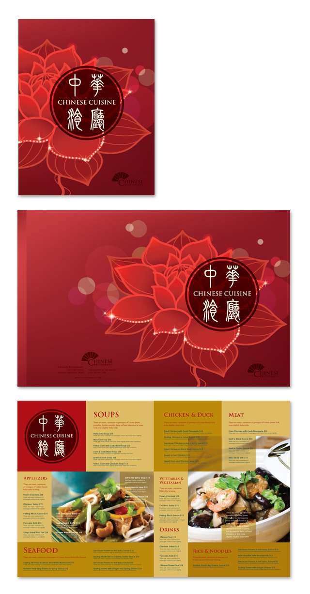 Asian Chinese Restaurant Menu Template
