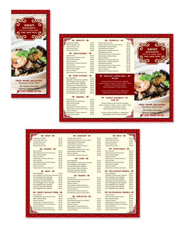 Asian Restaurant Take Away Menu Template DLayouts Graphic Design Blog - Delivery menu template