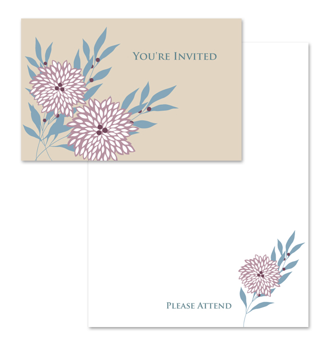 You're Invited Note Card Template