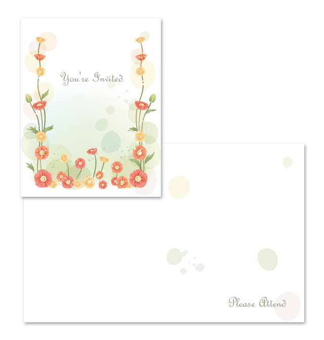 Party Invitation Note Card Template