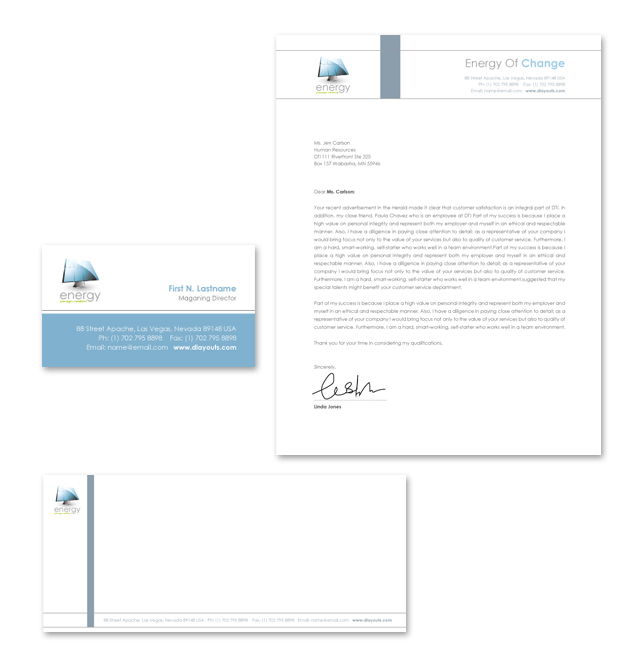 Renewable Energy Consulting Stationery Kits Template