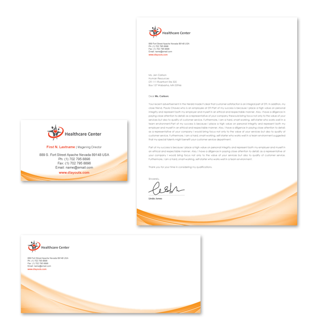 Healthcare Management Stationery Kits Template