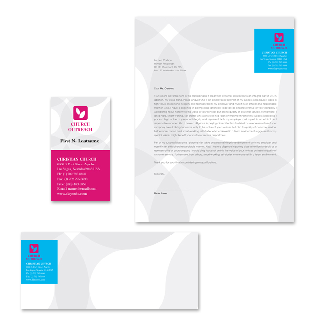 Church Outreach Stationery Kits Template