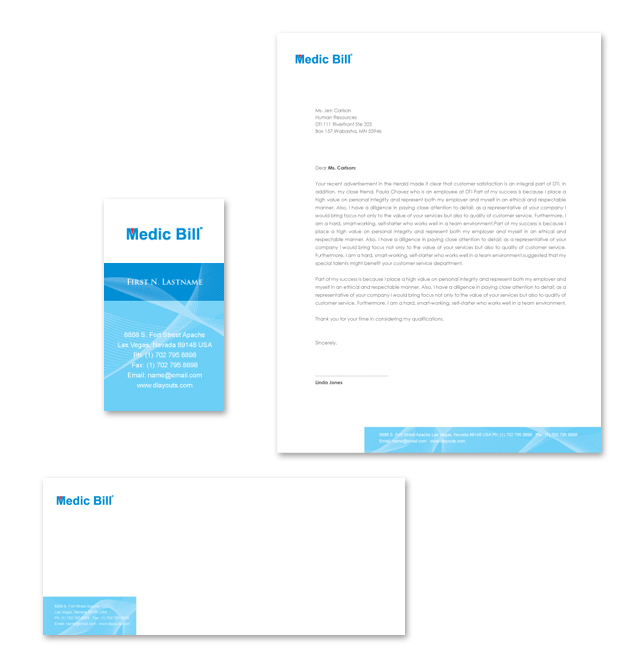 Medical Billing Services Stationery Kits Template