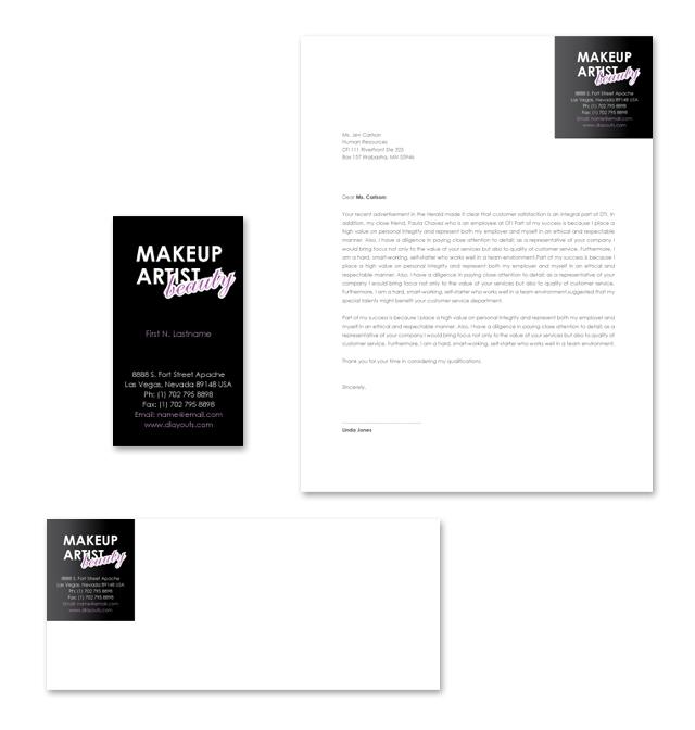 Makeup Artist Stationery Kits Template