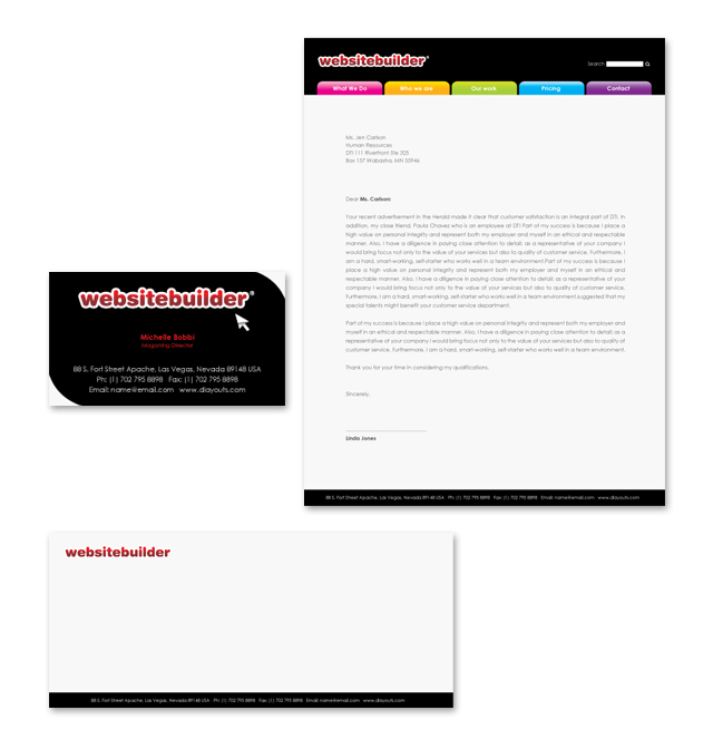 Website Builder Company Stationery Kits Template