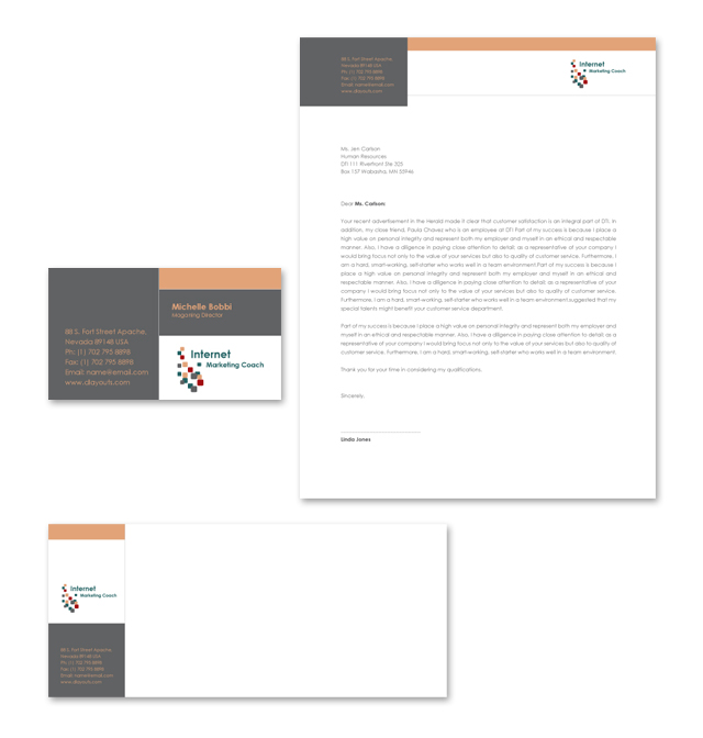 Internet Coaching Program Stationery Kits Template