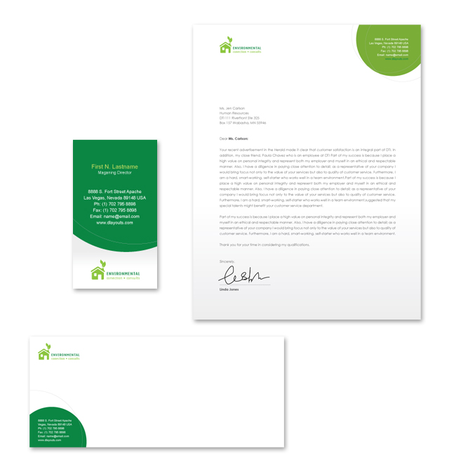 Environmental protection stationery kits template for Environmental protection plan template