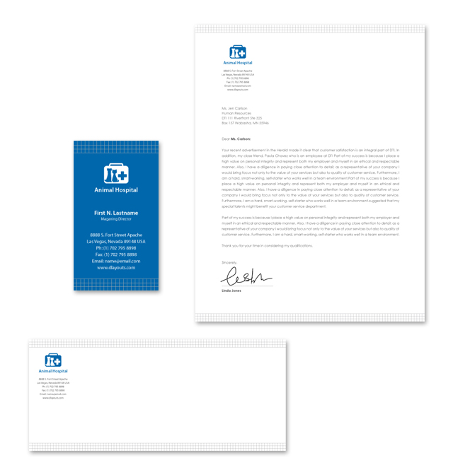 Veterinarians Stationery Kits Template