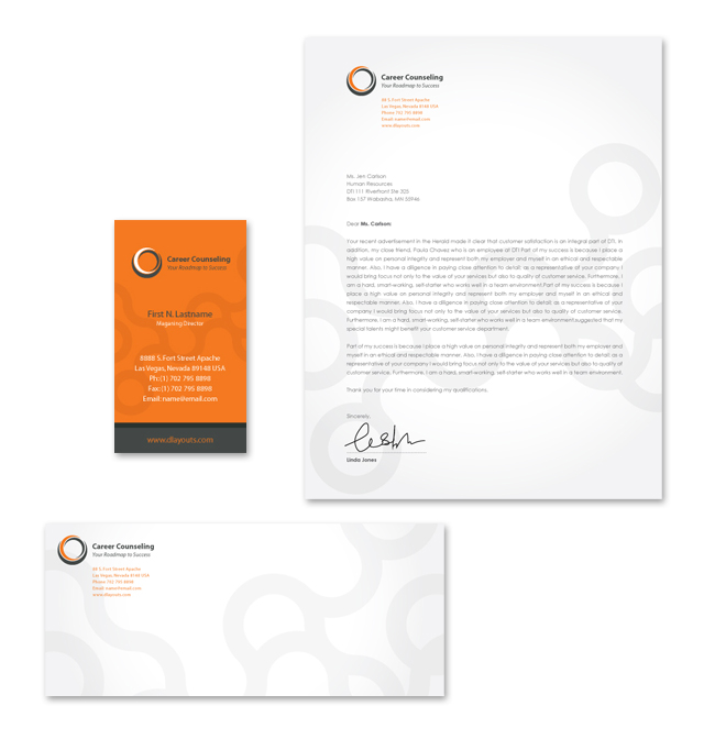Career Counseling Stationery Kits Template