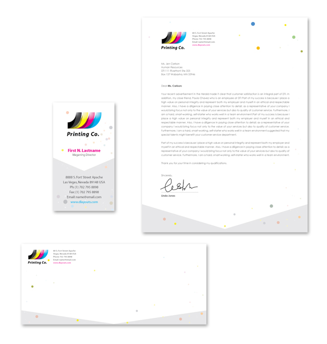 Printing Company Stationery Kits Template