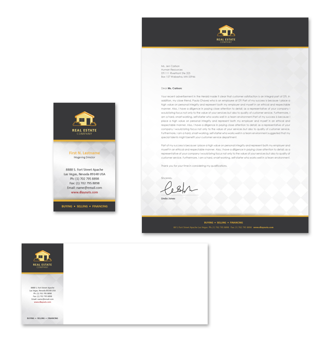 Real Estate Stationery Kits Template