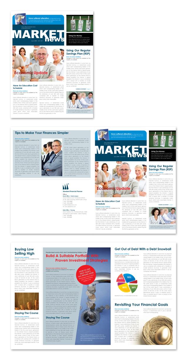 financial planner newsletter template. Black Bedroom Furniture Sets. Home Design Ideas