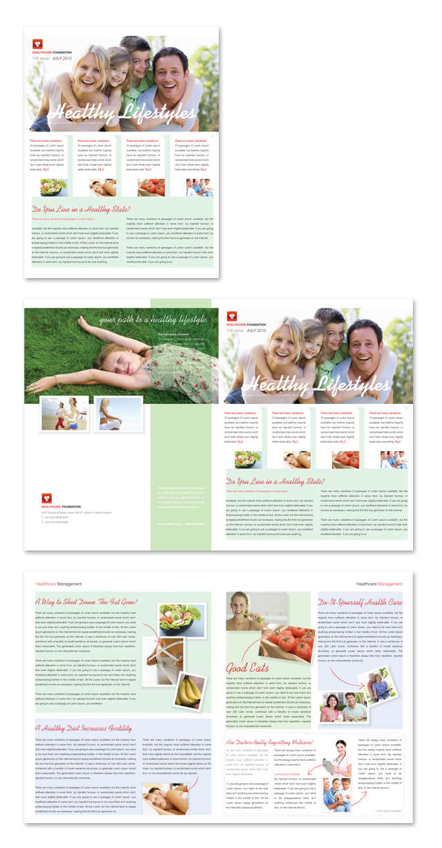 Healthcare Management Newsletter Template