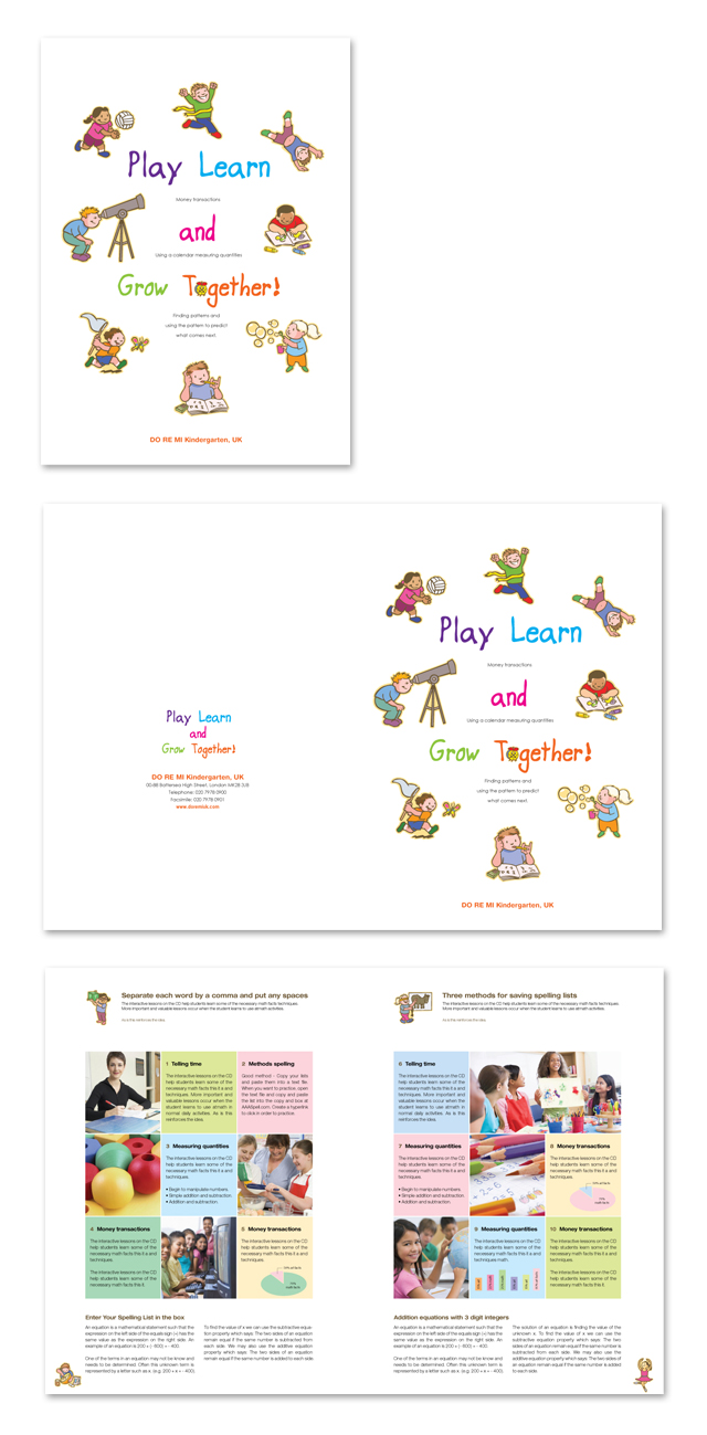 Kindergarten Corporate Profile Brochure Template