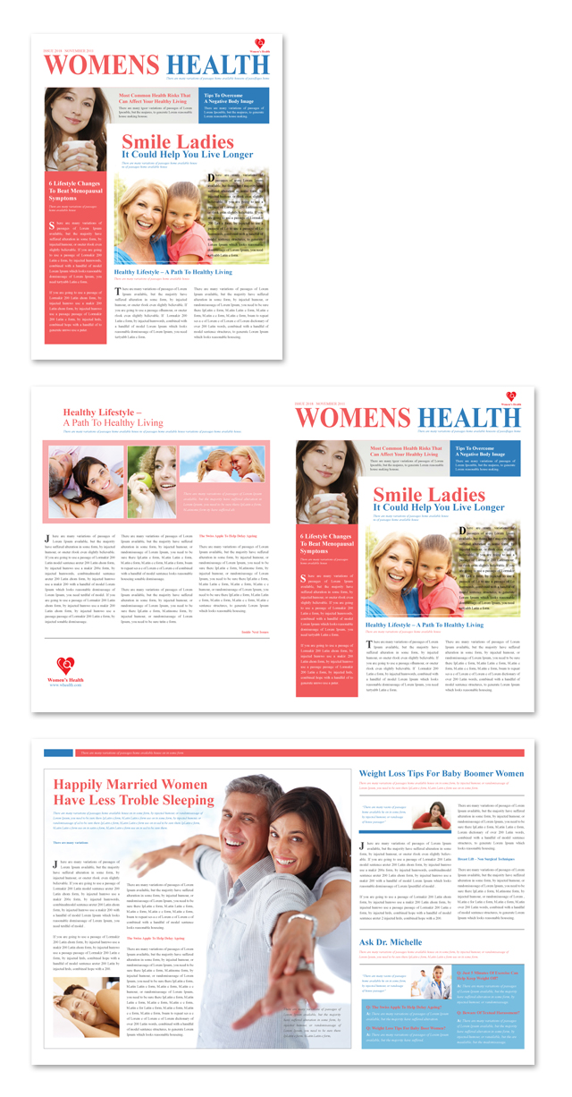health and wellness newsletter template - women 39 s health clinic newsletter template