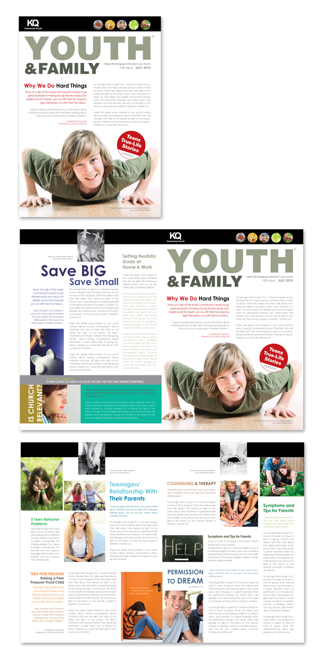 Church Ministry & Youth Group Newsletter Template