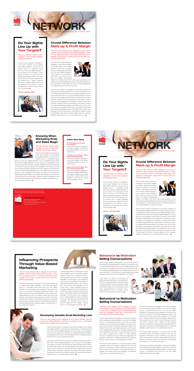 technology consulting newsletter template