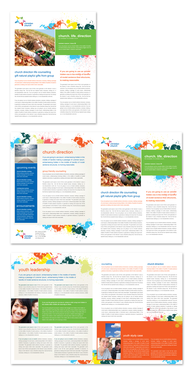 church youth ministry newsletter template