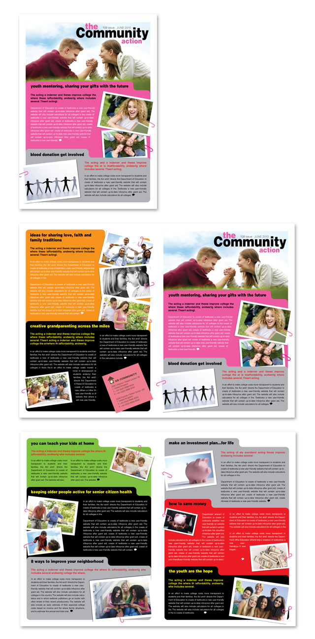 community non profit newsletter template