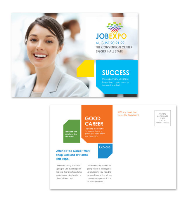 Career Fair Postcard Template