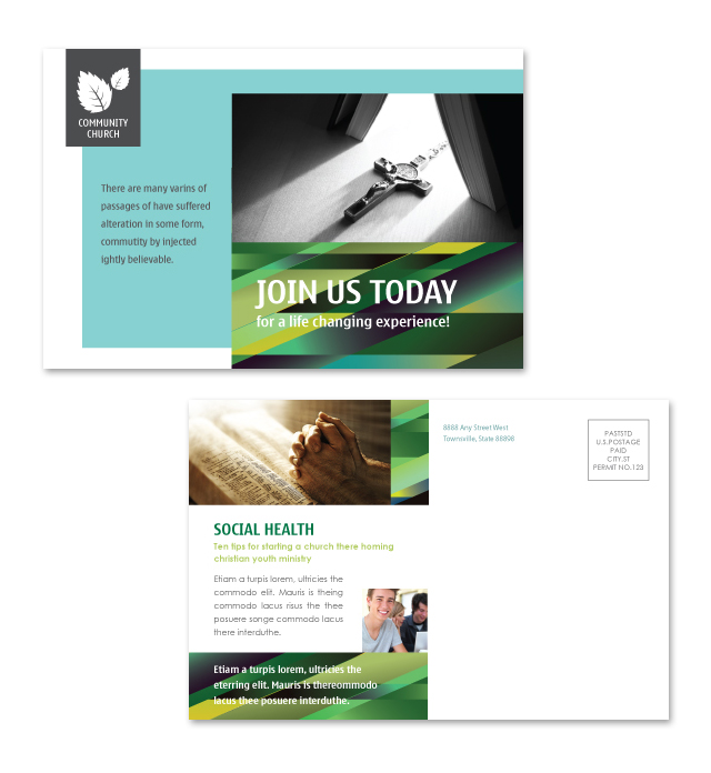Christian Community Postcard Template
