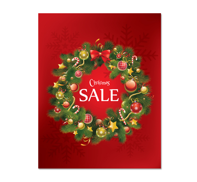 Christmas Ring Sale Poster Template